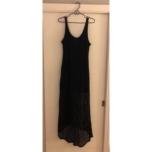 High Low Crochet Maxi Dress